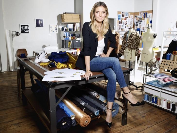 Heidi Klum v svoeto atelier