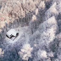 Приказното японско селце, сгушено в снега