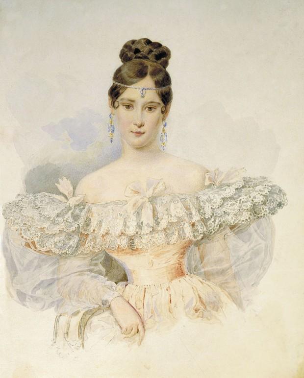 Наталия Гончарова Пушкина, портрет от Александър П. Брюлов