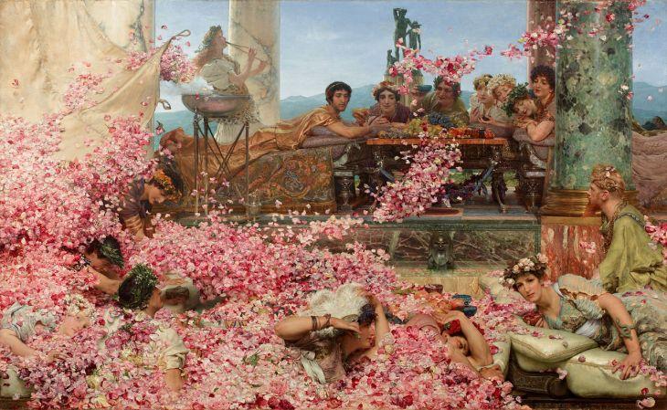 Розите на Хелиогабал от Алма-Тадема (1888)