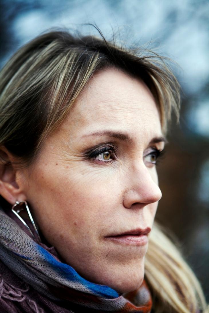 120320 Mariefred. Författaren Åsa Larsson. Foto: Anna Simonsson