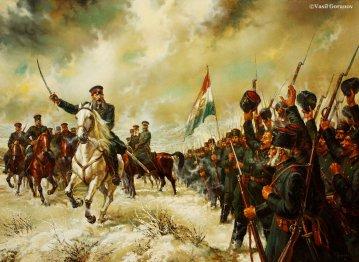 Vasil Goranov General Gurko pozdraviava opalchencite